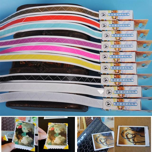 กรอบภาพ 10 สี DIY สติกเกอร์กระดาษโดยตรงสูบน้ำ Mini Handmade วัสดุมุมสมุดภาพ