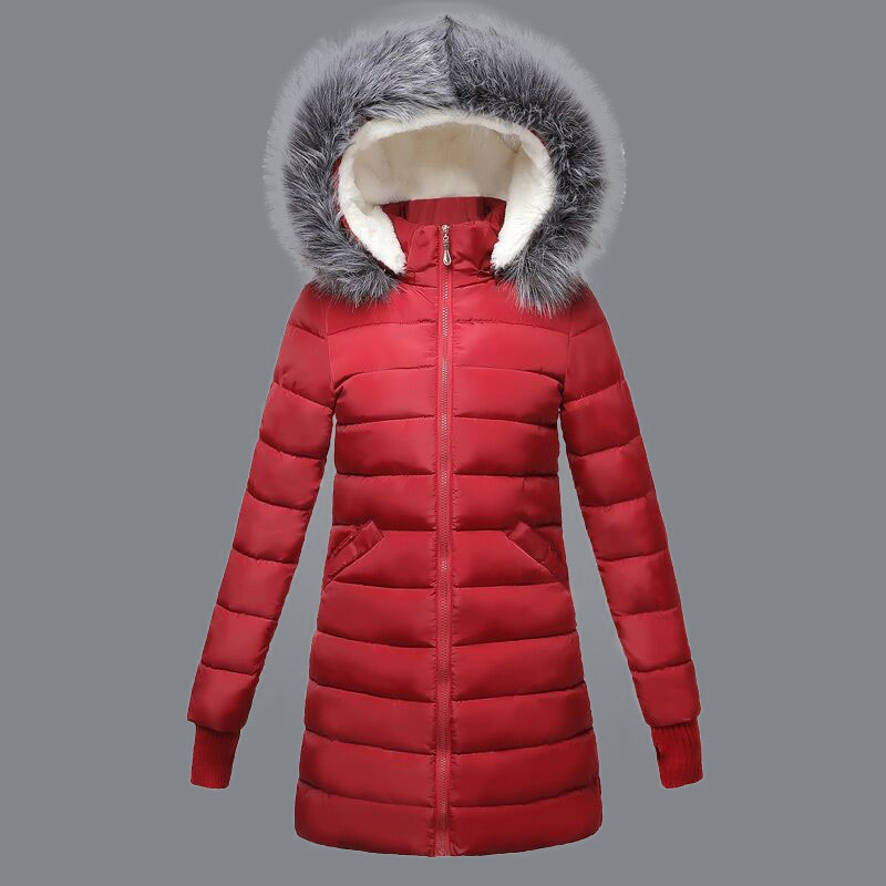 Real fox fur collar Winter Female Jacket new 2018 fashion women Parkas Snow Wear Hooded Thicken winter coat Female warm clothing