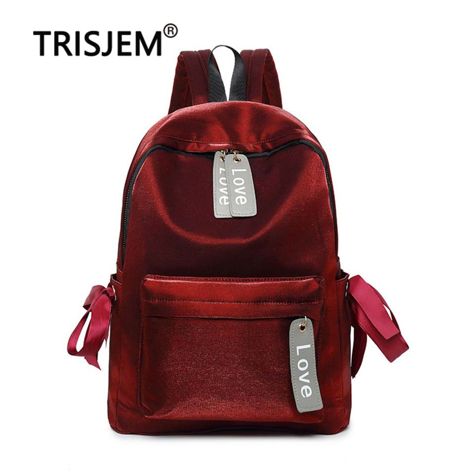 d89bbe7f001b6 Detail Feedback Questions about TRISJEM Red school backpack feminine  backpack for girls velour backpack sac a dos school bags for girls love  Rucksack rugzak ...