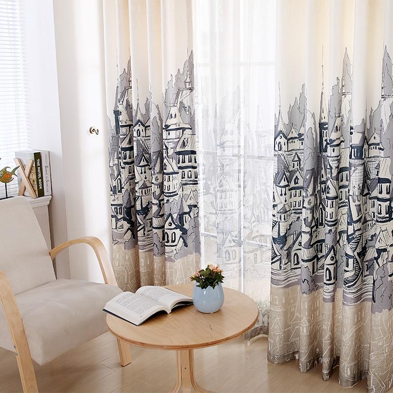 estilo europeo cortinas acabadas para living comedor sala de estudio dormitorio cortina de tela de