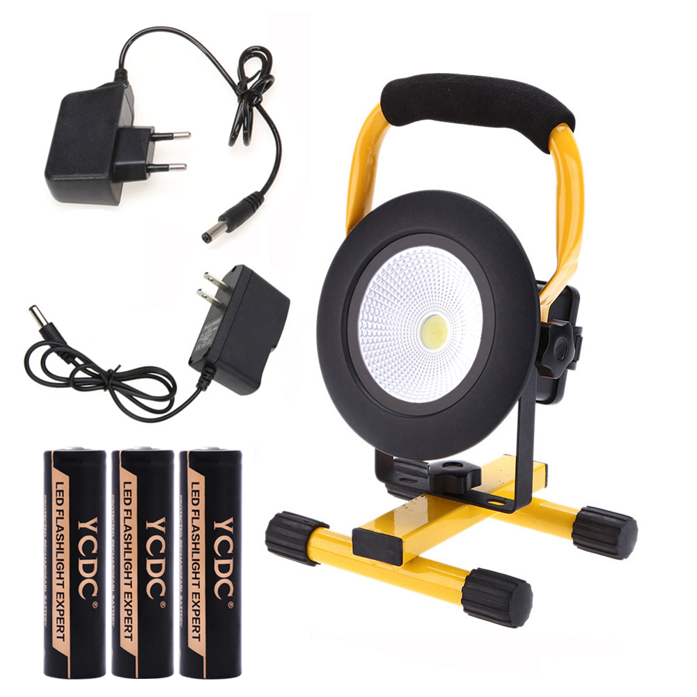 ФОТО TSLEEN IP65 LED Flood Light Portable Spotlight Cool White/Red Outdoor Lamp EU/US