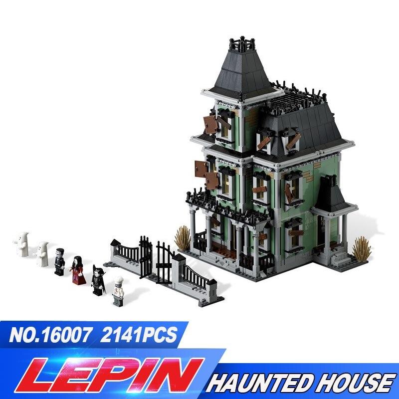 Новый Лепин 16007 2141 шт. монстр-истребитель дом с привидениями Модель Набор строительных комплектов модель совместима 10228 legoed