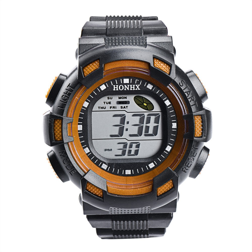 Digitale Uhren # 5001men Fashion Led Digital Alarm Datum Gummi Uhr Wasserdicht Sport Armbanduhr Dropshipping Neue Freeshipping Heiße Verkäufe Herrenuhren