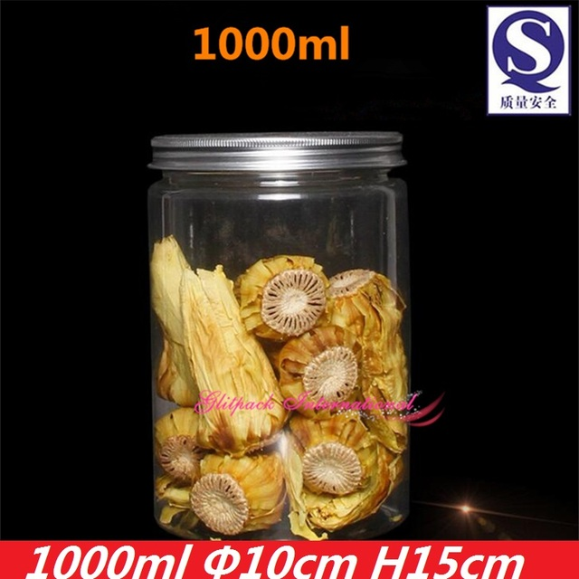 Airtight Cookie Jar Adorable 60ml PET Plastic Clear Jars 60oz Food Packaging Containers