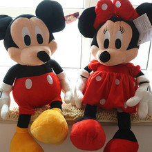 Freeshiping 72 cm big size mickey mouse plush toy mickey and Minnie Mouse soft toy 1pair