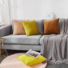 Home Decorative Sofa Throw Pillows Velvet simple solid color pillowcase fashion plush sofa cushion cover hug pillowcase цены
