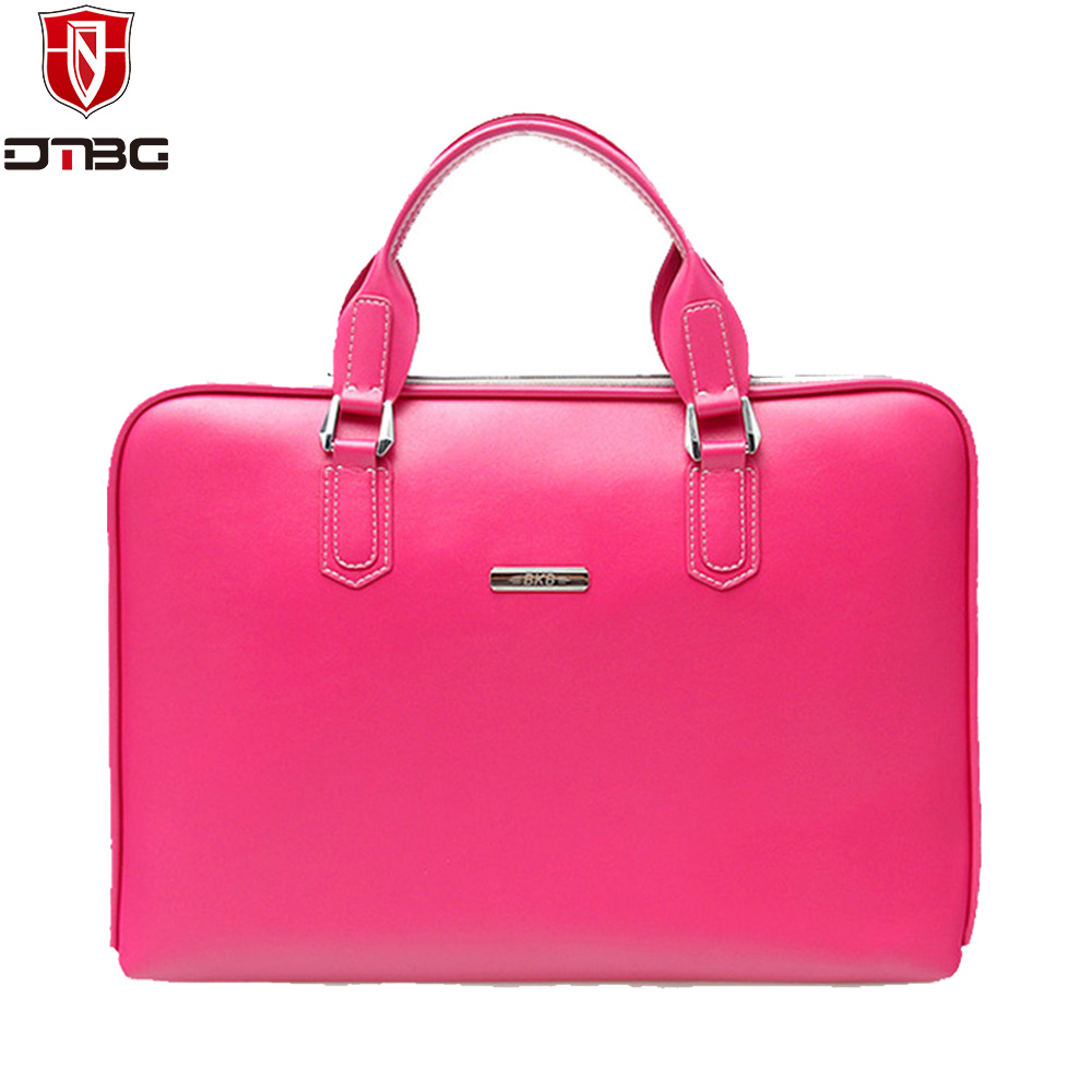 DTBG Luxury PU Leather Business Briefcase 13.3 15.6 inch Laptop Handbag for Women Fashion Notebook Handbag for Macbook Air Pro dtbg pu leather women handbag fashion european and american style totes messenger bag original design briefcase zipper 2017