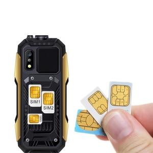 "Image 2 - SERVO X7 Mobile Phone 3 SIM Cards 2.4"" Antenna Analog TV Voice Changing Laser Flashlight Power Bank Russian keyboard Cell Phones"