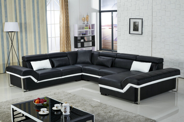 Sofas for living room with leather corner sofas for modern for Zoom room design