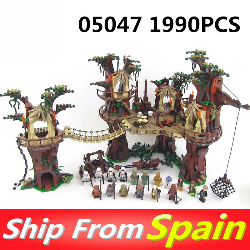 Toys-Bricks Building-Blocks 05047 Christmas-Gift 10236 Ewok Village Plan Wars Compatible