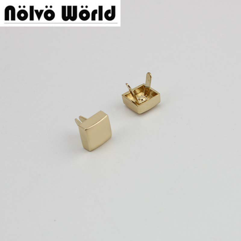 50pcs 5 colors 10.5*10.5mm 100% copper die casting 11*8mm  square rivet screw for bags hardware,high quality rivets accessories 100% copper die casting 15 11mm tower head studs with screw base for punk bags hardware high quality rivets accessories