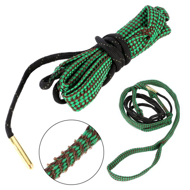 1Pcs  Green Bore Snake Rope 22 Cal 5.56mm 223 Caliber Gun Rifle Cleaning Cord Kit Hunting Gun Accessories