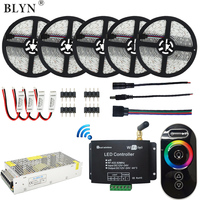 WIFI LED Strip RGB Waterproof 5050 Tape Rope 25M 15M 10M RF Touch Remote RGB LED WIFI Controller Amplifier+ 12V LED Power Supply