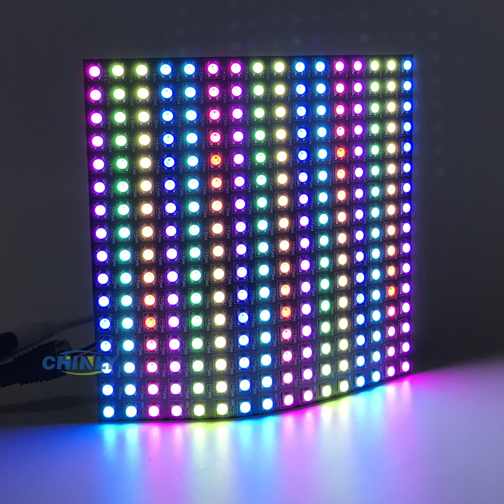 8 * 8/16 * 16/8 * 32 pixlar 64 Pixlar 256 Pixlar 5V Digital Flexibel Panelskärm Individuellt Adresserbar Dream Color LED WS2812B