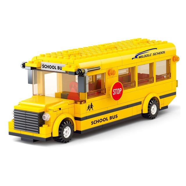US $16 99  Sluban M38 B0507 M38 B0506 M38 B0311 M38 B0333 school bus  eductional as gift to kids-in Blocks from Toys & Hobbies on Aliexpress com   