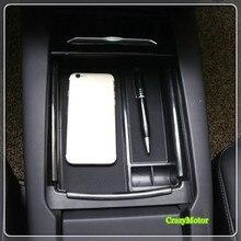 Для Tesla модель x модель s 2016 17 2018 подкладке черный перчатки центральный подлокотник Box Организатор Коробка для хранения Интимные аксессуары автомобиля стиль
