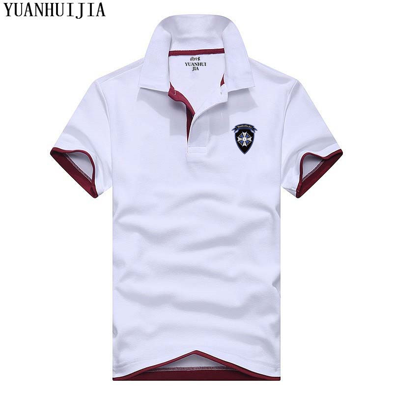 Hot Sale Resident Evil Umbrella   Polo   Men 2018 Summer Cotton Men Short sleeve   polo   Short Sleeve   POLO   shirt Hiphop For Adult