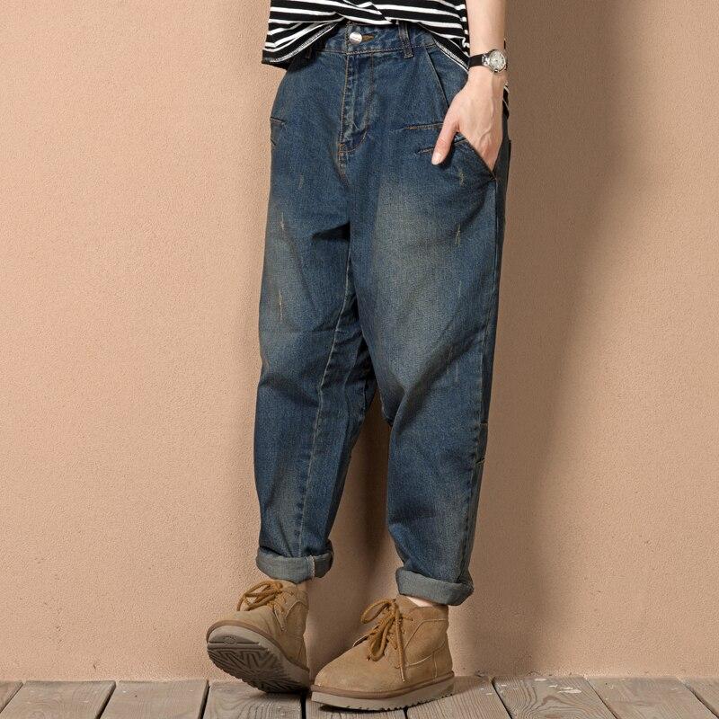 Original Boyfriend Jeans Women 2016 Hot Sale Loose Baggy Jeans Ripped Denim