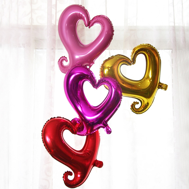 Hook Heart Shaped Foil Balloons 18inch Love Balloon Happy Birthday Wedding Party Supplies Engagement Mariage Decorations Globos