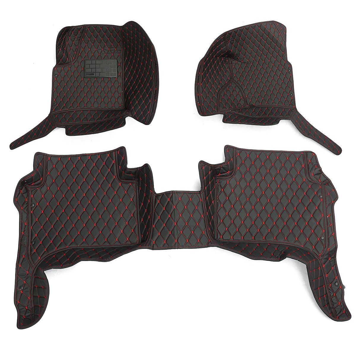 Floor mats with cushion - Black Red Fully Enclosed Car Floor Mat Cushion For Porsche Cayenne 2006 2010