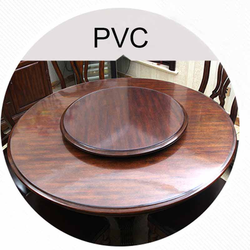 New style PVC round tablecloth tableware kitchen oil proof transparent table top protection pad high quality waterproof glass so Tablecloths  - AliExpress