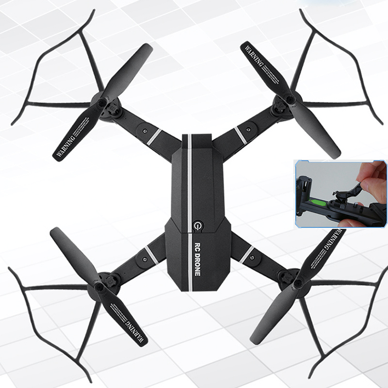 Drone MiNi Foldable Selfie Drone with HD Camera Drones WiFi FPV Quadcopter RC Helicopter One Key Return Dron