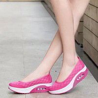 Shoes Woman Hot Printing Breathable Mesh Platform Shoes Women Casual Shoes