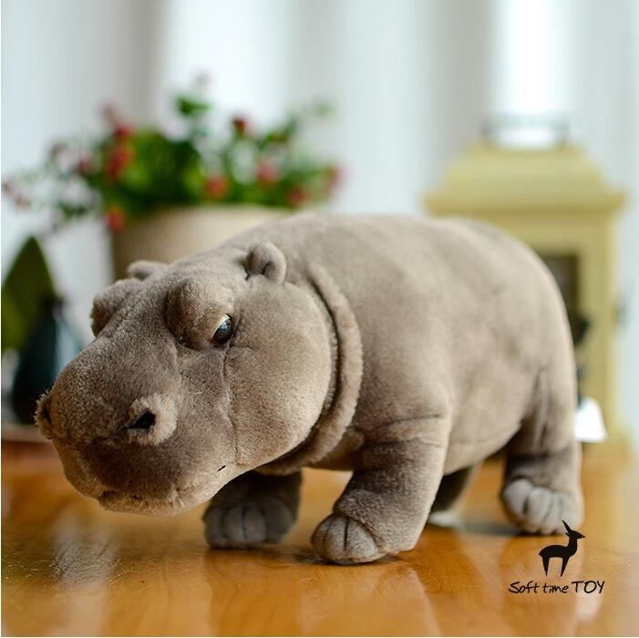 Plush Toy  African Hippo Doll  Simulation Animals  Children'S Toys Gifts Pillow  Good Quality недорого