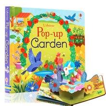 Pop up jardim inglês educacional 3d aleta imagem livros crianças crianças livro de leitura para 3-6 anos de idade