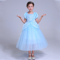 Kids Cinderella Dress for Girls Party Dress Girl Halloween Cosplay Cartoon Dress Children Cinderella Princess Clothing 2 10 Yrs