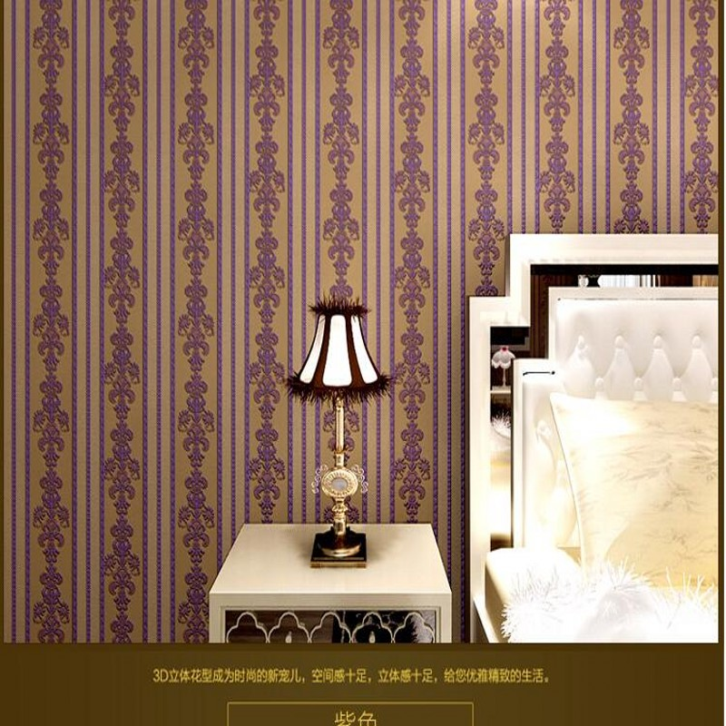 beibehang Simple European wallpaper warm stereoscopic vertical stripes embossed non-woven wallpaper the living room TV backdrop beibehang european minimalist bedroom cozy luxury highend vertical stripes wallpaper the living room tv backdrop stereoscopic 3d