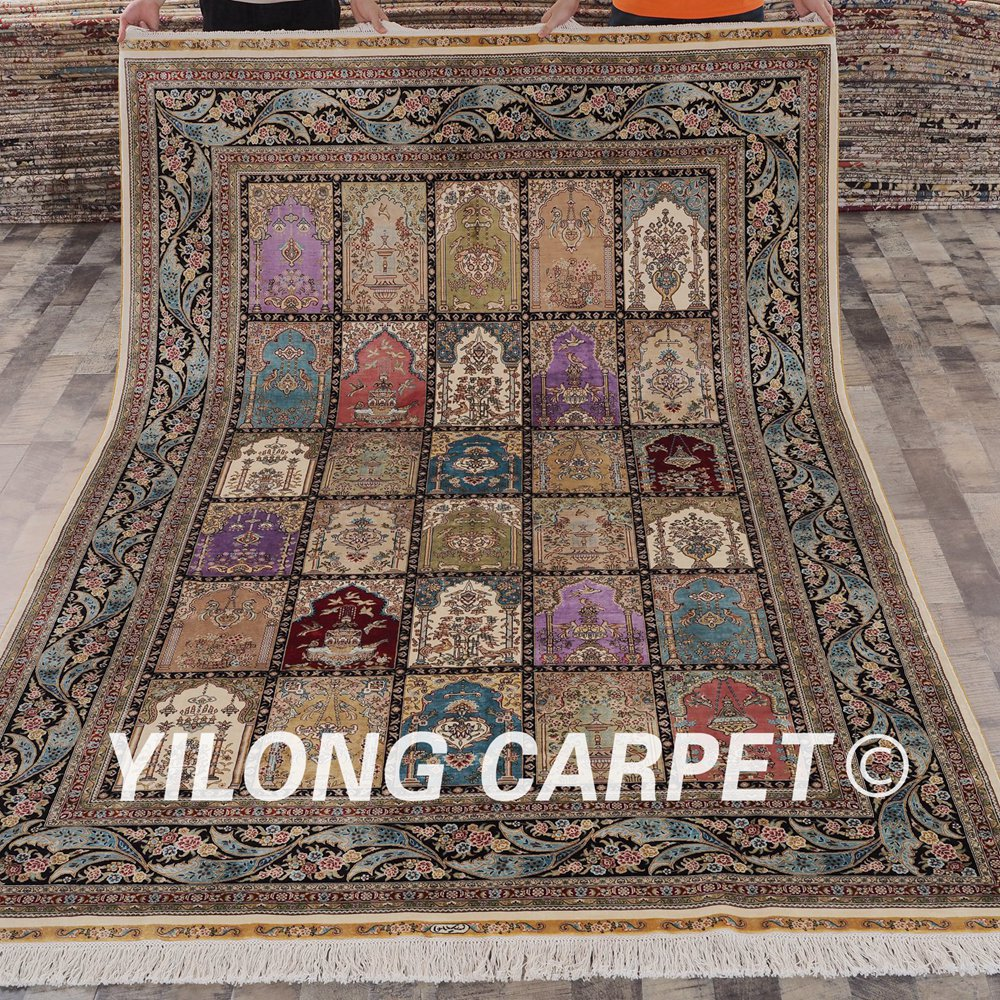 Us 7560 0 Yilong 6 X9 Handwoven Persian Carpets Four Seasons Exquisite Silk Rug Ywx078a6x9 In From Home Garden On Aliexpress 11 Double