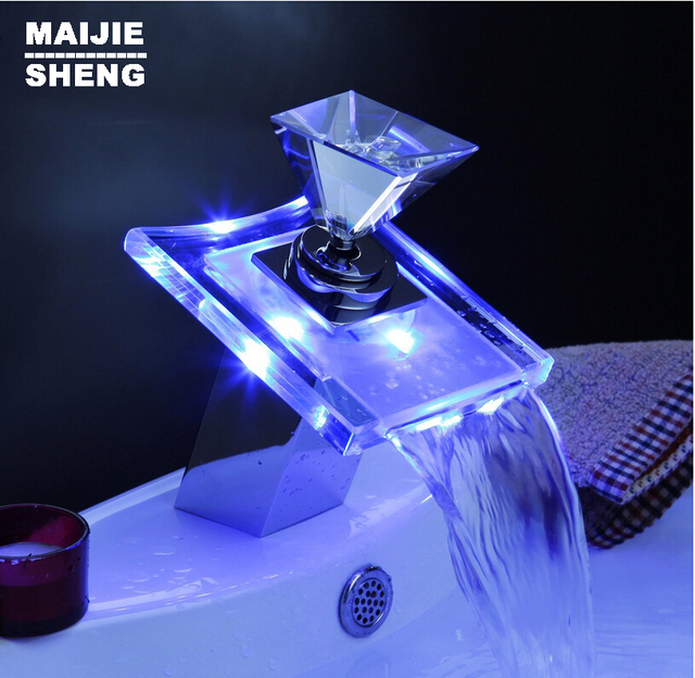 Aliexpress.com : Buy 2015 New Sale Sink Led Faucet Single Diamond ...
