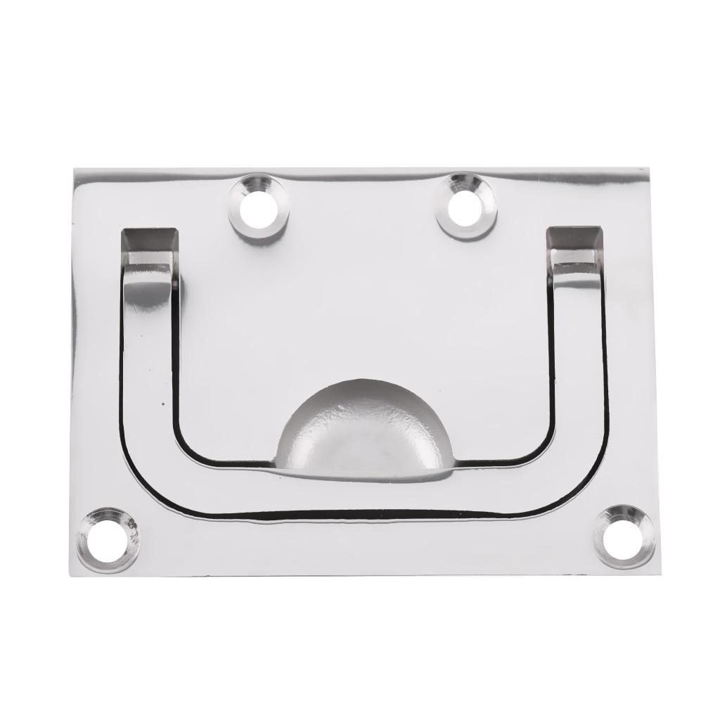 3Pcs 316 Stainless Steel Flush Pull Lift Handle Ring for Boat RV