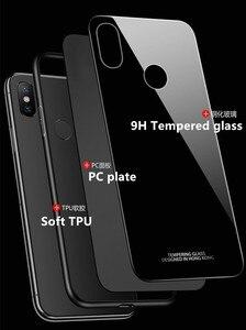 Image 2 - Xiaomi Mi Max 2กรณีสำหรับXiaomi Mi Max2 3 9 8 10 Se A3 Lite Proกรณีหรูหรากระจกนิรภัยแม่เหล็กรถผู้ถือกรณีTPU