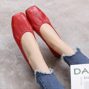 Image 4 - GKTINOO mocassins en cuir véritable pour femmes, chaussures de grande taille, chaussures dinfirmière plates, collection chaussures décontractées