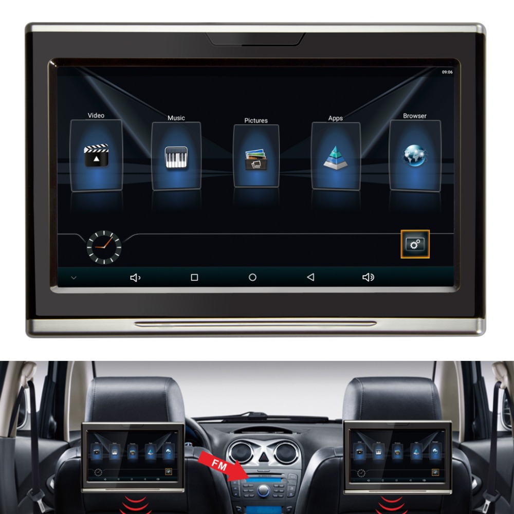 auto digital headrest player touch screen android 6 0 car. Black Bedroom Furniture Sets. Home Design Ideas