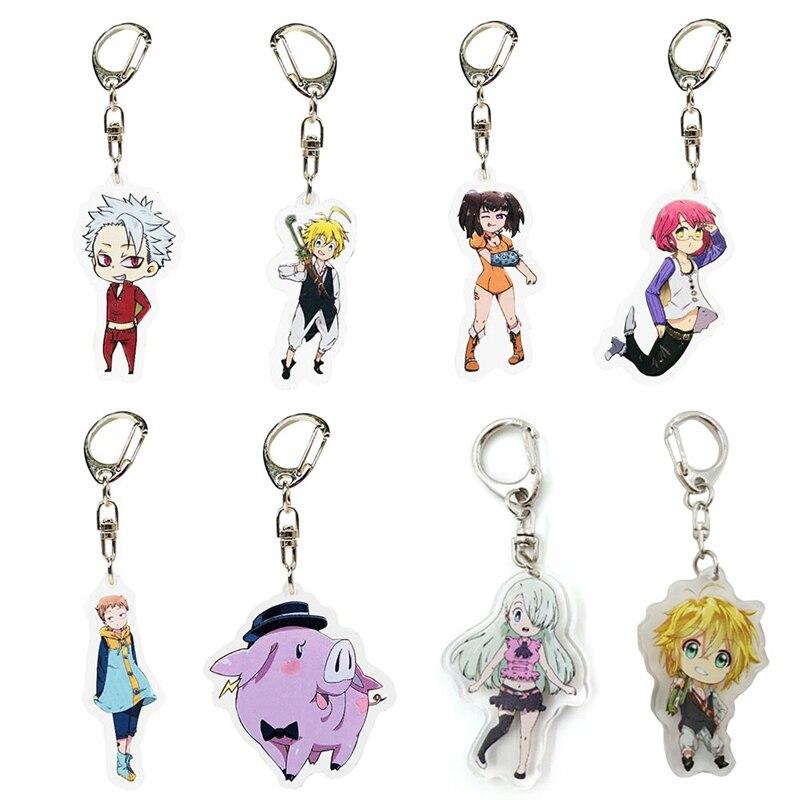 8 Styles Acrylic Keychain Anime The Seven Deadly Sins