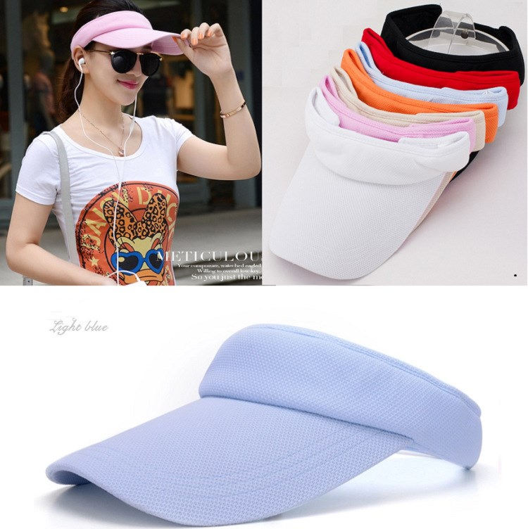 Sun Female Sunscreen Summer Outdoor Sports Topless Tennis Cap Sun Visor Empty Top Hat
