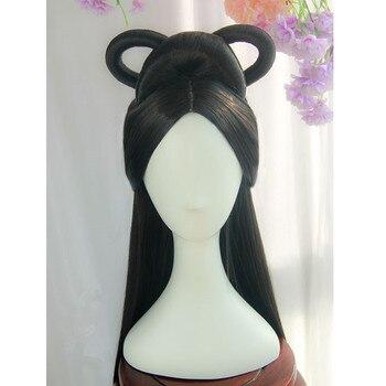 90cm piękne włosy księżniczki produkty dla kobiet dynastii tang włosy cosplay halloween cosplay karnawał odzież wróżka nakrycia głowy