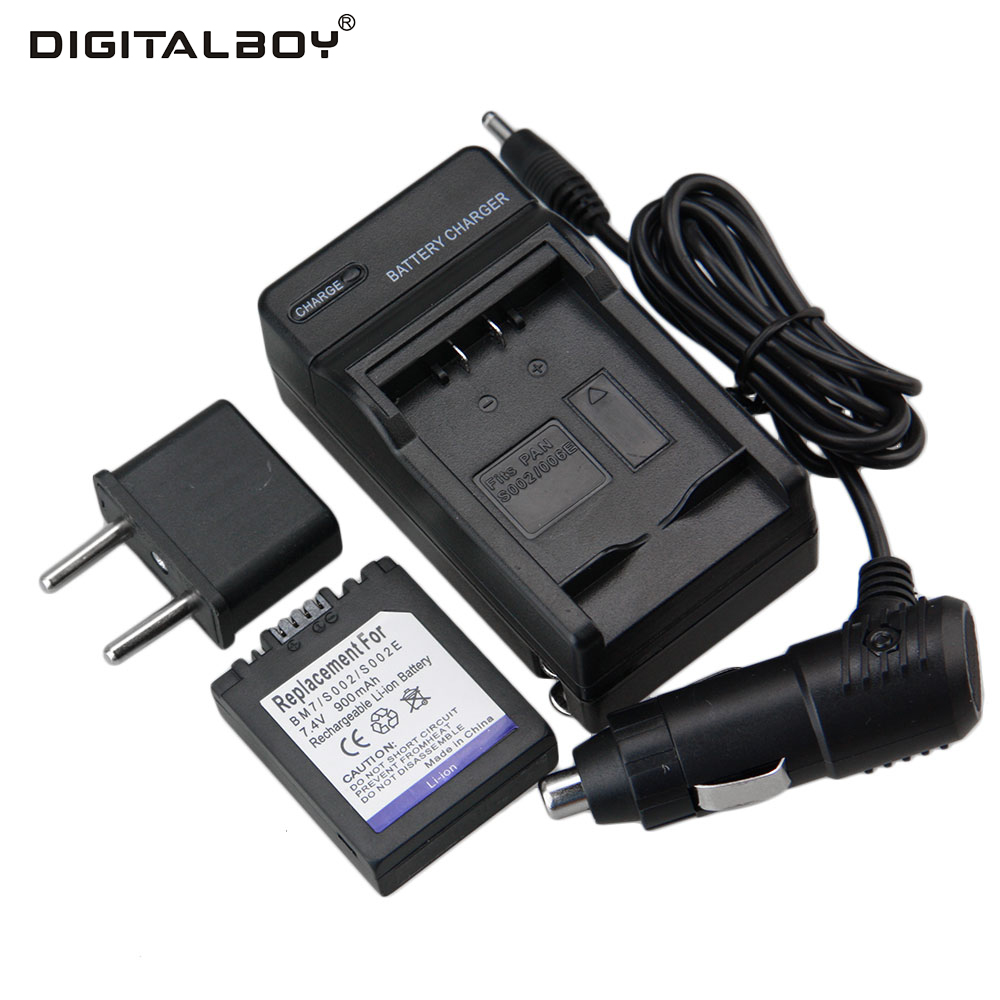 Hot Sale 1 Pcs CGR-S002 CGR S002 CGRS002 Camera Battery + Charger + Car Charger For Panasonic DMC-FZ1 DMC-FZ10