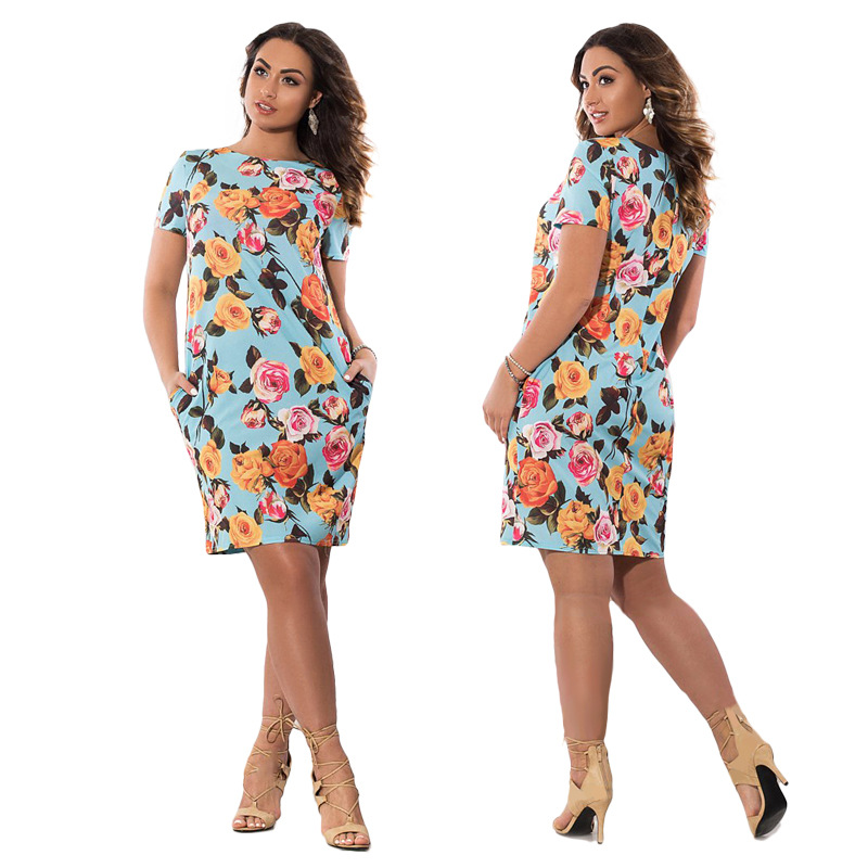 HTB11l5MXgvGK1JjSspiq6A96FXak 2019 Autumn Plus Size Dress Europe Female Fashion Printing Large Sizes Pencil Midi Dress Women's Big Size Clothing 6XL Vestidos