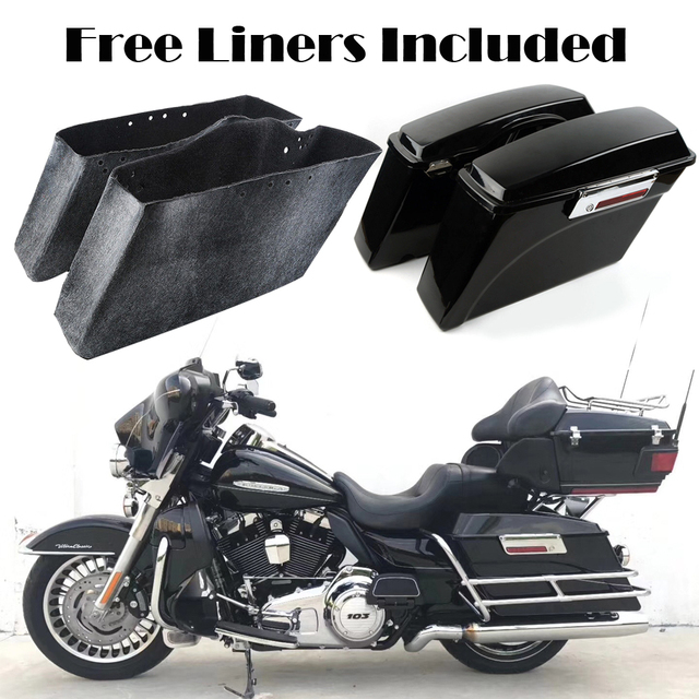 Motorcycle Saddle Bags Hard Trunk Saddlebags For Harley Dyna Electra Glide Road King Street