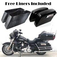 Motorcycle Saddle Bags Hard Trunk Saddlebags For Harley Dyna Electra Glide Road Glide Road King Street Glide Super Glide