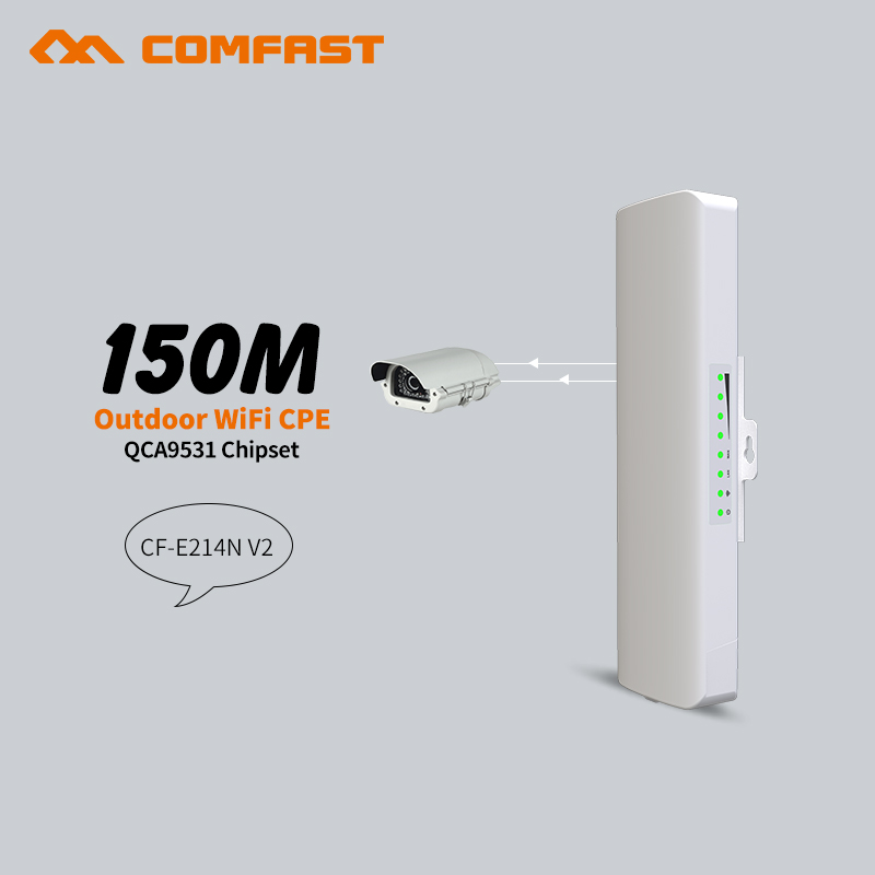 2pcs Wireless Outdoor Long Range CPE,150Mbs,11n,2.4GHz WIFI Signal Booster for Outdoor wifi signal transmission and receiving mbs ruta 150 white