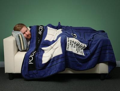 Cosplaydiy Doctor Who Tardis Police Box Blanket Sheet Air conditioning blanket J5