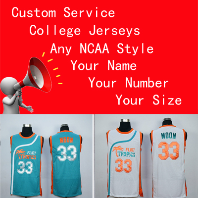 b2d6af52e03 New Flint Tropics Semi Pro Movie Basketball Jersey 11 ED Monix 55 Vakidis  Stitched Shirts Green White S 2XL Name Customize -in Basketball Jerseys  from ...