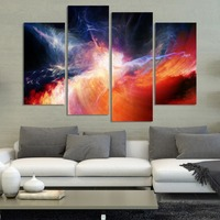4pcs Sky Modern Abstract Wall Art ON Canvas No Frame Photo Pictures Image oil Painting Home decor wedding Decoration wholesale