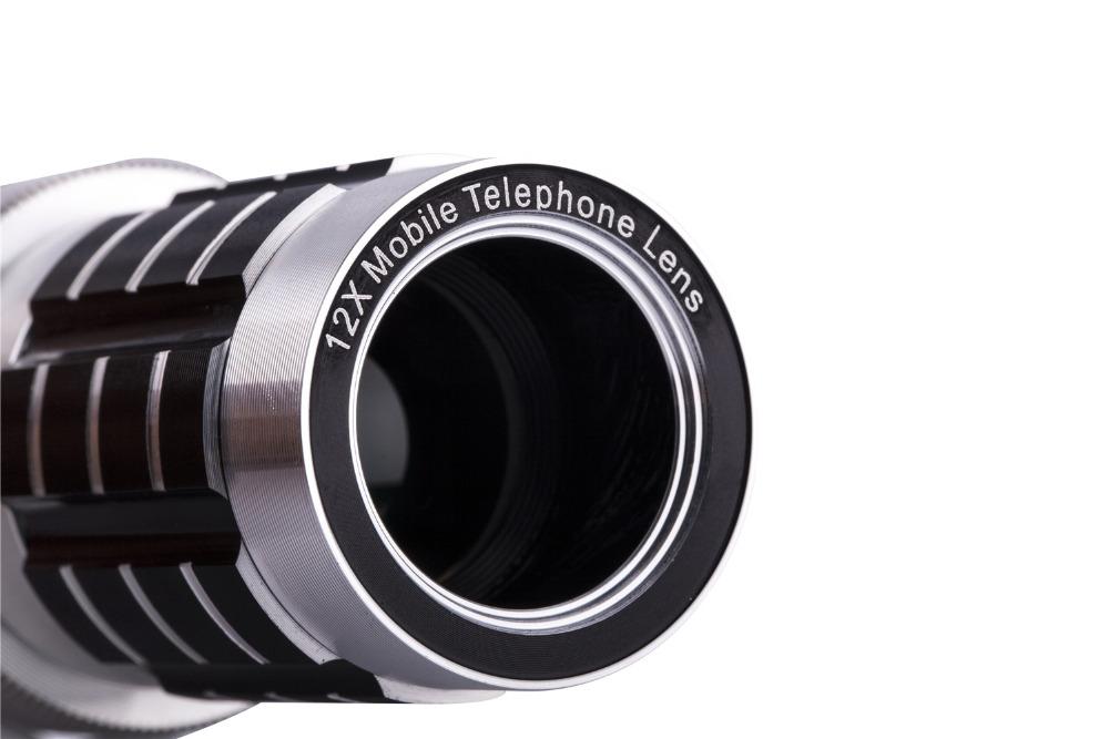 12X Telephoto Lens Lenses 4 In 1 Phone Fish Eye Lens Universal Wide Camera Lens ojo de pez For iPhone Lens olho de peixe Tripod 21