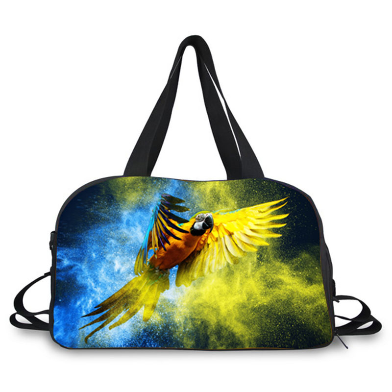 Luggage-Bag Casual-Bag Travel Large-Capacity Ladies New-Fashion Print 3D Parrot